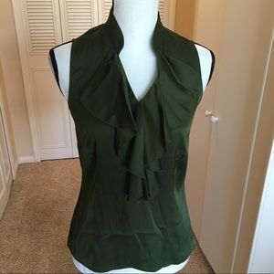 Ann Taylor dark green blouse ⭐️
